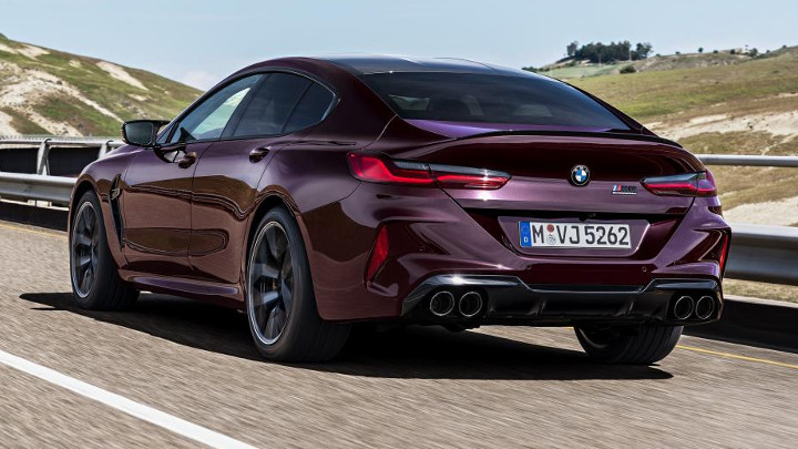BMW M8 Competition Gran Coupe back